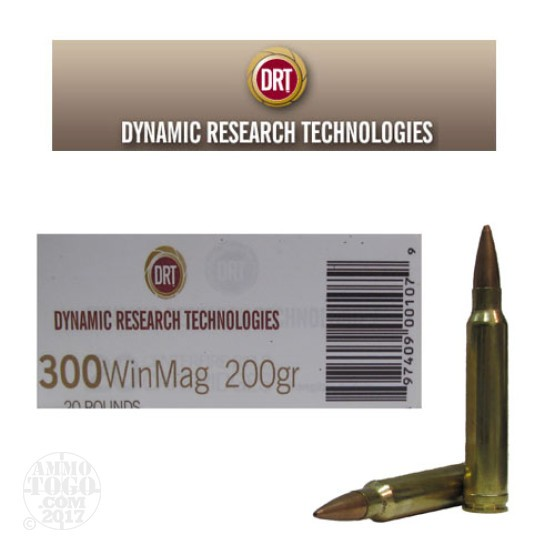 20rds - 300 Win. Mag DRT 200gr. BTHP Lead Free Frangible Ammo