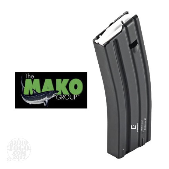 1 - Mako E-Lander AR-15/M16 30rd Blued Steel Magazine