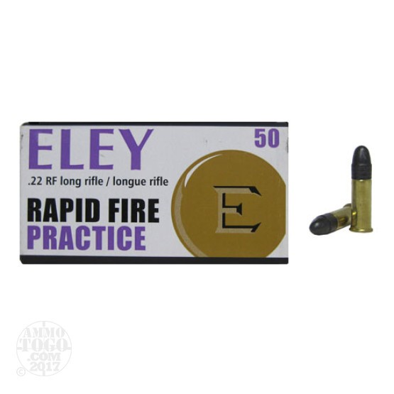 50rds - 22LR Eley Practice 40gr. Solid Point Ammo