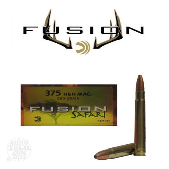 20rds - 375 H&H Mag Federal Fusion 300gr. SP Ammo