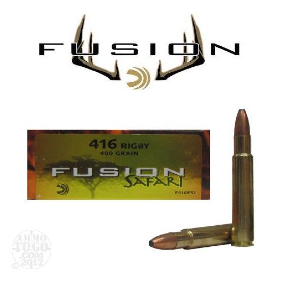 20rds - 416 Rigby Federal Fusion Safari 400gr. SP Ammo