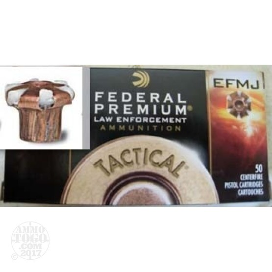 500rds - 40 S&W Federal LE Tactical EFMJ 165gr. Ammo