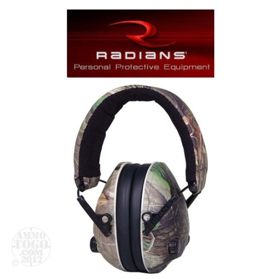 1 - Radians Hunter's Ears Mossy Oak Hearing Protection Electronic Earmuff