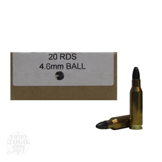 20rds - 4.6x30mm HK RORG 26gr. Steel Ball Ammo