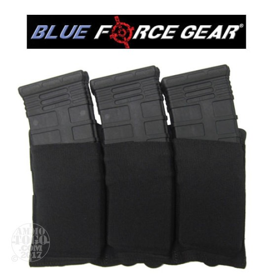 1 - Blue Force Ten Speed Triple M4 Magazine Pouch Black