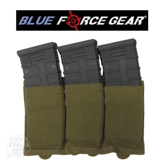 1 - Blue Force Ten Speed Triple M4 Magazine Pouch Coyote Brown
