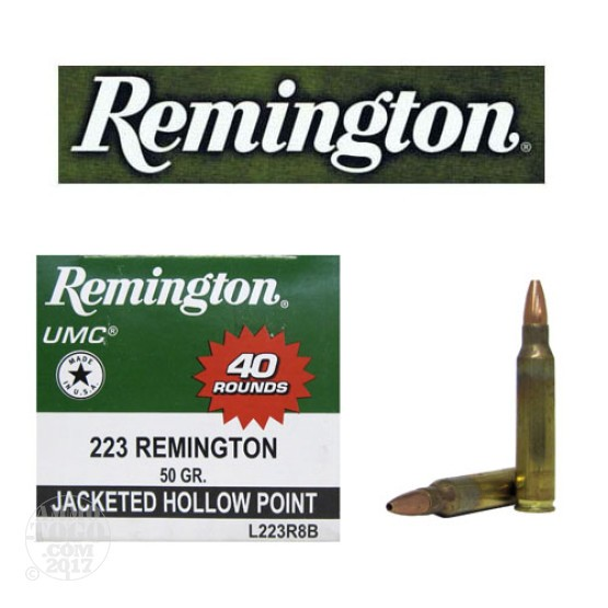 400rds - 223 Remington UMC 50gr Jacketed Hollow Point Ammo