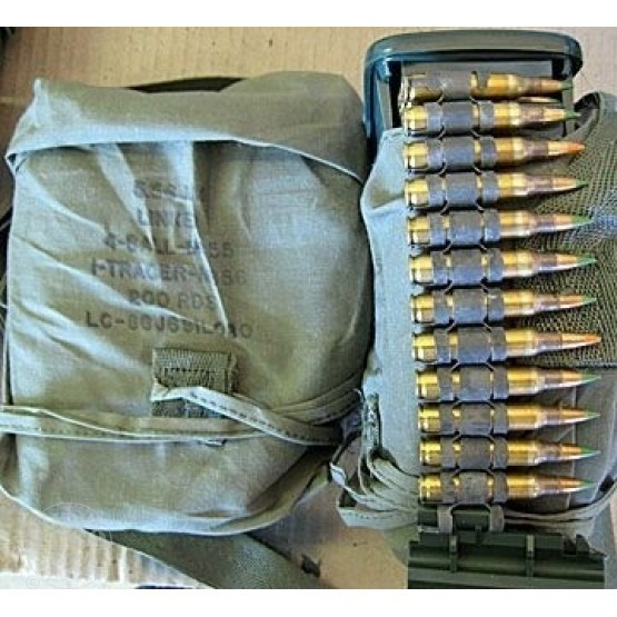 200rds - 5.56 Lake City M-855 linked 4 to 1 M-856 Tracer Ammo