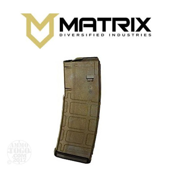 1 - Matrix Diversified With Magpul PMAG P30 AR15 Bounty Hunter 30rd. Magazine