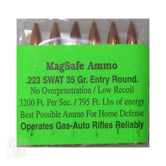 6rds - 223 Magsafe 35gr. SWAT Entry Ammo