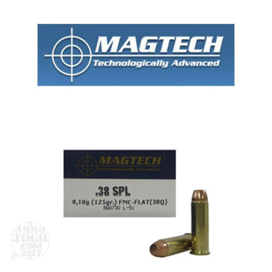 50rds - 38 Special Magtech 125gr. FMJ-FP Ammo