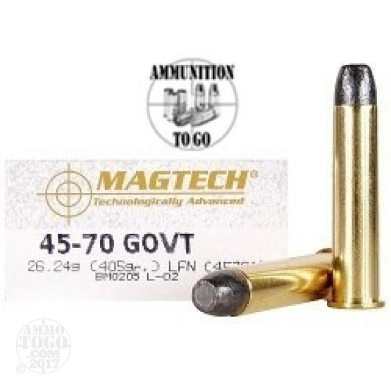20rds - 45-70 Govt. MAGTECH Cowboy 405gr. Lead Flat Nose Ammo