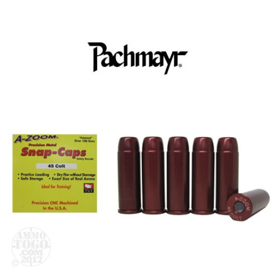 6rds - 45 Colt Pachmayr A-Zoom Snap Caps