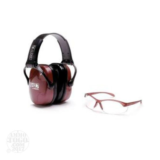 1 - Howard Leight Women's Shooting Safety Combo Kit Dusty Rose