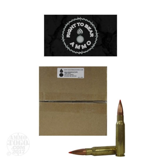 200rds - 308 Win Right to Bear Range Blaster 155gr. A-MAX Polymer Tip Ammo