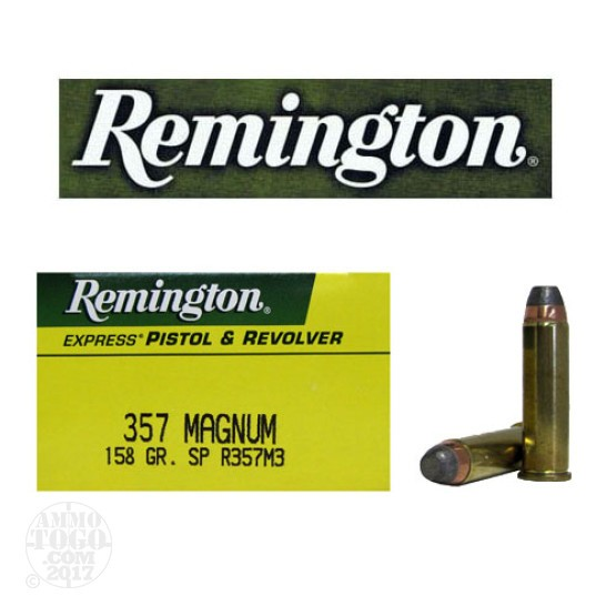 50rds - 357 Mag Remington Express 158gr. Semi-Jacketed Soft Point Ammo