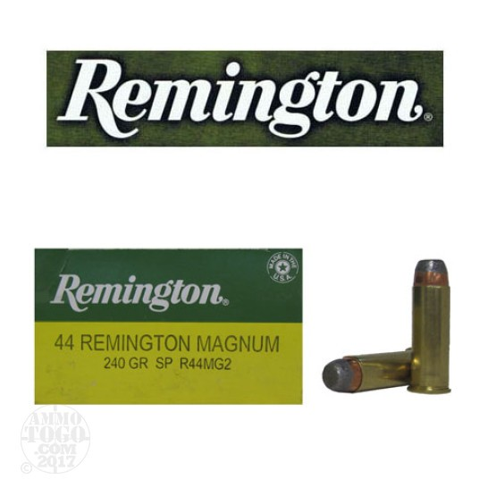 25rds - 44 Mag Remington Express 240gr. Jacketed Soft Point Ammo