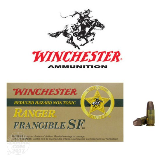 500rds - 9mm Winchester Ranger 100gr. +P Frangible Ammo