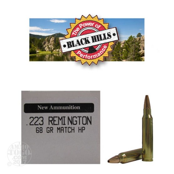 50rds - 223 Black Hills 68gr. New Seconds Heavy Match HP Ammo