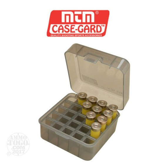 1 - MTM 25rd. Shotshell Box 12, 16, and 20 Gauge - Clear Smoke