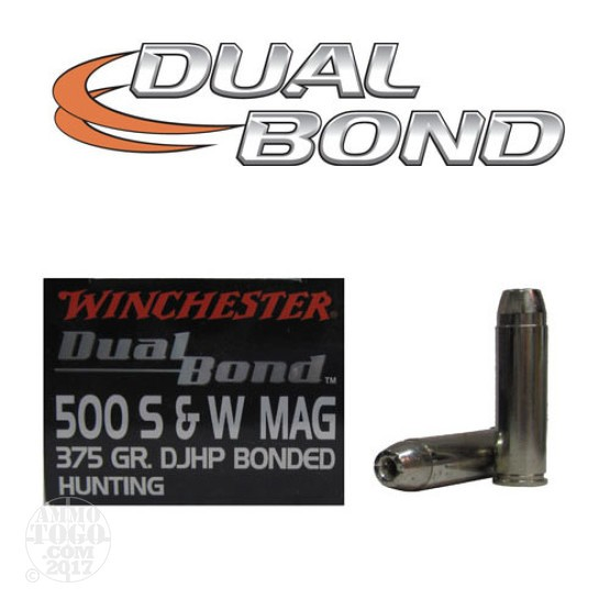 20rds - 500 S&W Winchester 375gr. Supreme Elite Dual Bonded Ammo
