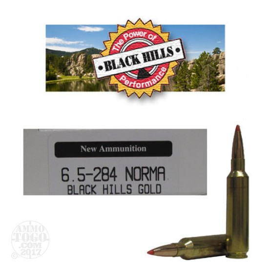 20rds - 6.5mm -.284 Norma Black Hills Gold 120gr. New Seconds GMX Polymer Tip Ammo