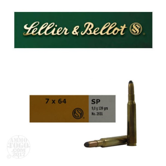 20rds - 7x64 Sellier and Bellot 139gr. SP Ammo