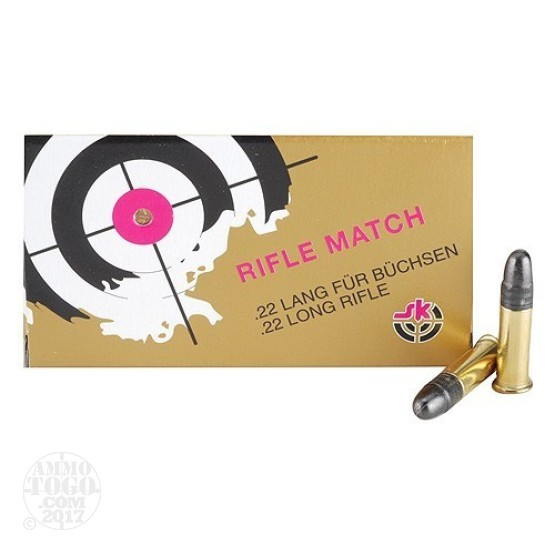 100rds - 22LR SK Rifle Match 40gr. Solid Point Ammo
