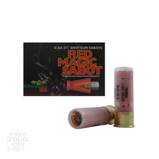 "25rds - 12 Gauge Brenneke Red Magic 2 3/4"" 1oz. Sabot Slug Ammo"