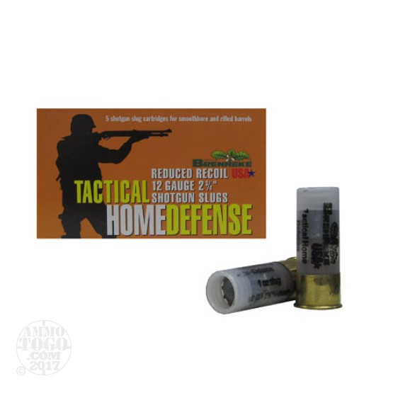 "100rds - 12 Gauge Brenneke Tactical Home Defense 2 3/4"" 1oz. Slug Ammo"