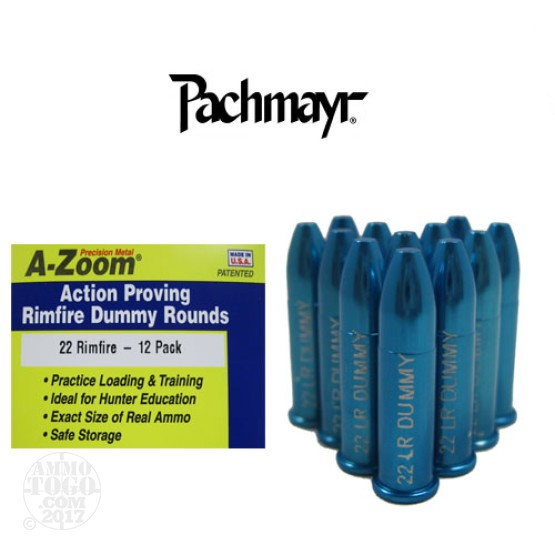 12rds - 22 LR Rimfire Pachmayr A-Zoom Action Proving Dummy Rounds