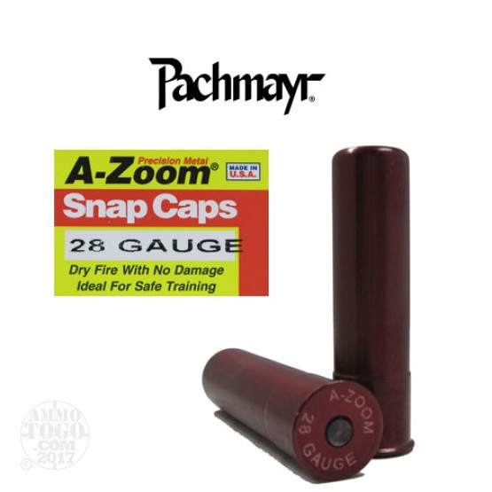 2rds - 28 Gauge Pachmayr A-Zoom Snap Caps
