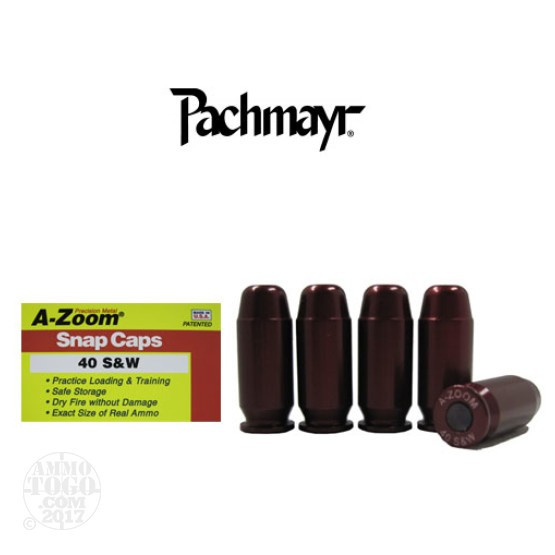 5rds - 40 S&W Pachmayr A-Zoom Snap Caps