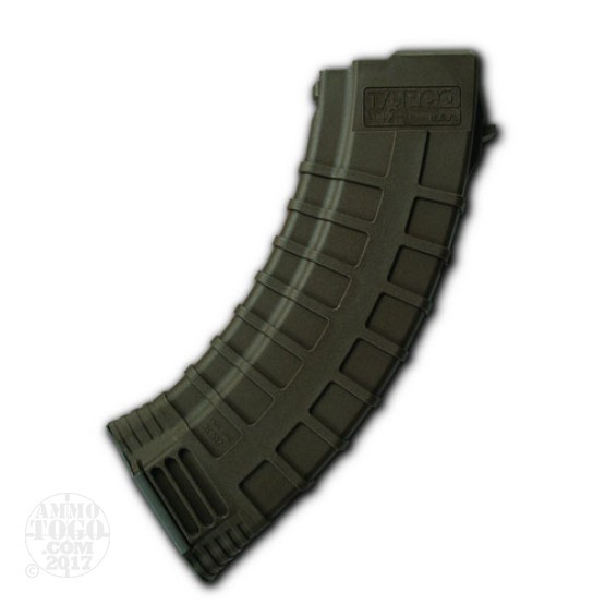 1 - AK-47 TAPCO 30rd. Pinned to 10rd. OD Green Polymer Magazine