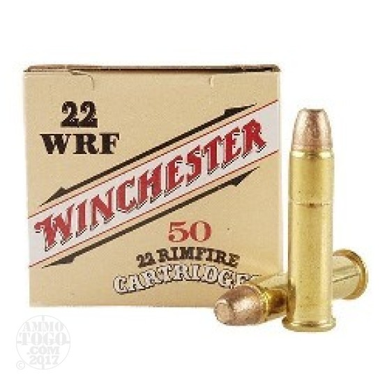 50rds - .22 WRF Winchester 45gr. Flat Nose Ammo