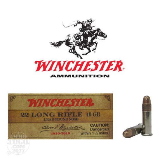 500rds - 22LR Winchester OFW Commemorative 40gr. Lead Round Nose Ammo