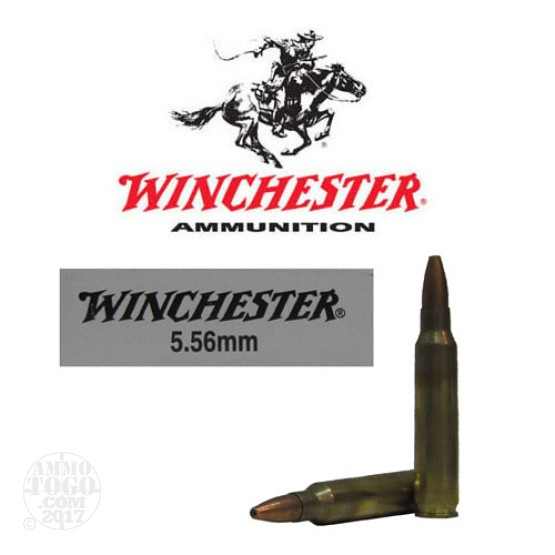 20rds - 5.56 Winchester ZQ3315 Open Tip 62gr. FBI Training Ammo