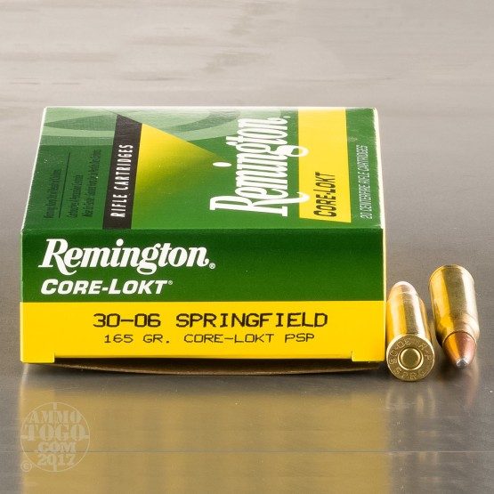 20rds - 30-06 Remington 165gr. Core-Lokt PSP Ammo