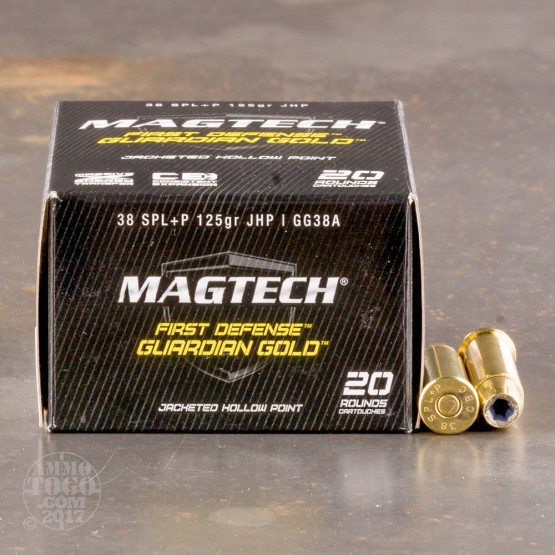 1000rds - 38 Special MAGTECH Guardian Gold 125gr. +P HP Ammo
