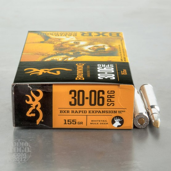 20rds - 30-06 Browning BXR 155gr. Polymer Tipped Ammo