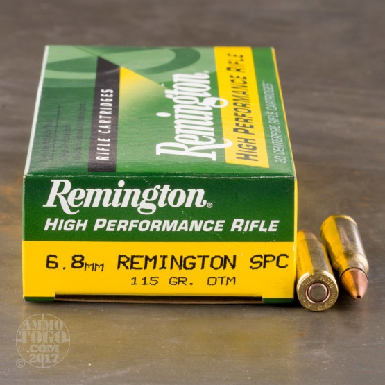 200rds - 6.8mm SPC Remington 115gr. Hollow Point OTM Ammo