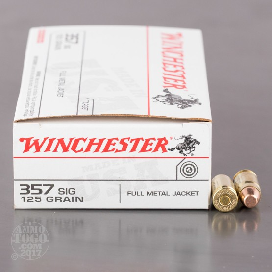 50rds - 357 Sig Winchester USA 125gr. FMJ Ammo