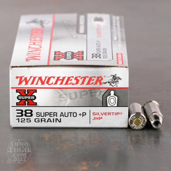 50rds - 38 Super Auto Winchester 125gr. Silvertip Hollow Point Ammo