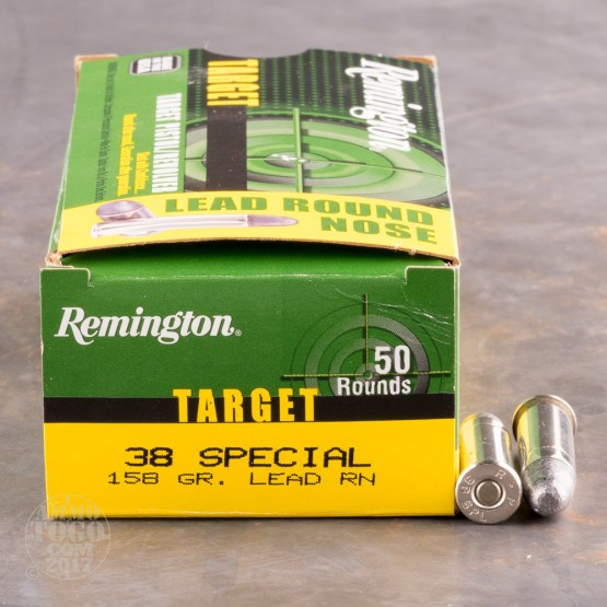 500rds - 38 Special Remington Target 158gr. LRN Ammo