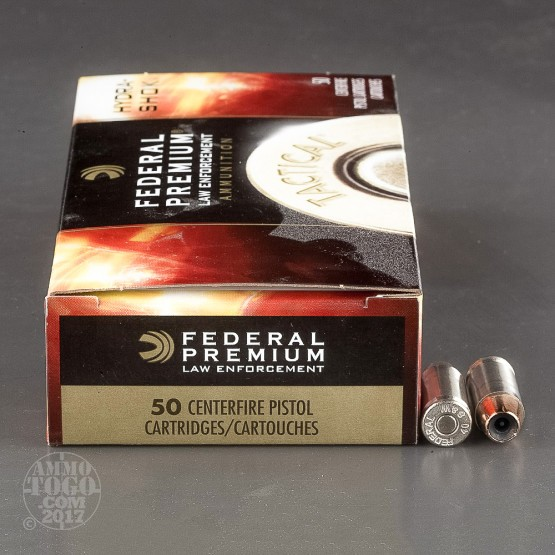 50rds - 40 S&W Federal LE Tactical Hydra-Shok 155gr. HP Ammo