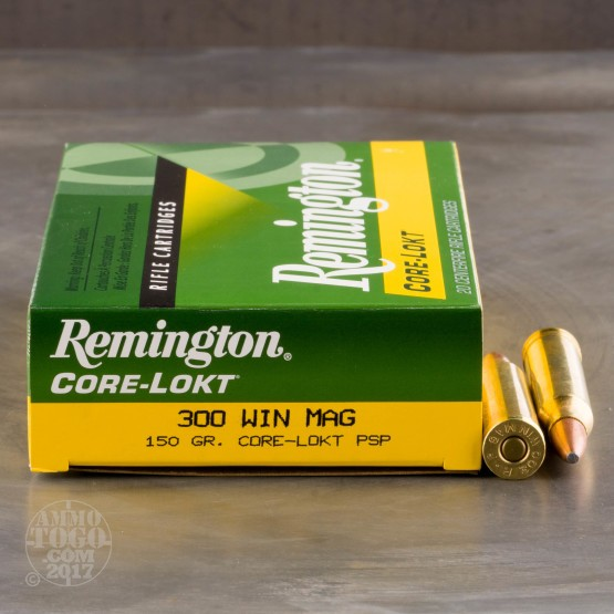 20rds - 300 Win Mag Remington 150gr. Core-Lokt PSP Ammo