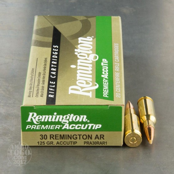 20rds - 30 Remington AR 125gr. Accutip Ammo