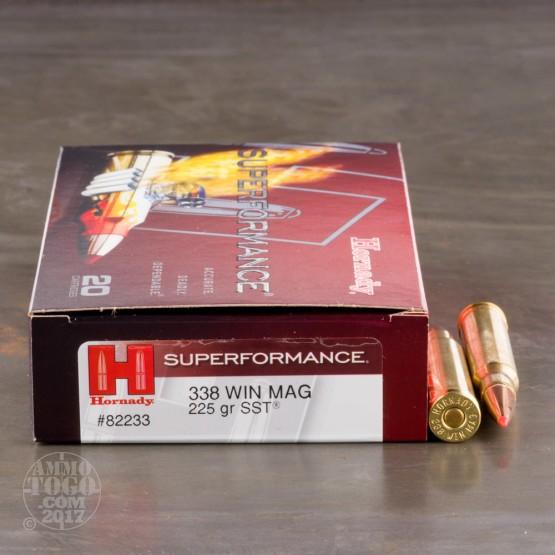 20rds - 338 Win Mag Hornady Superformance 225gr. SST Polymer Tip Ammo