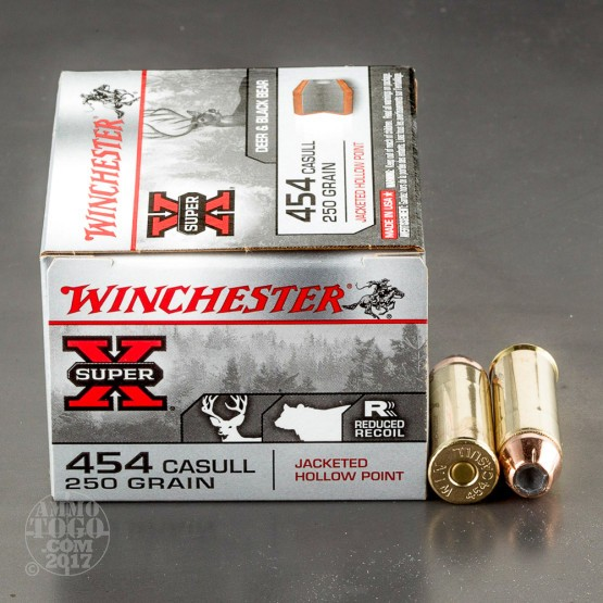 20rds - 454 Casull Winchester Super-X 250gr. Jacketed Hollow Point Ammo