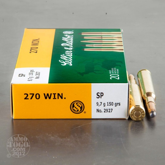 20rds - .270 Win. Sellier & Bellot 150gr. SP Ammo